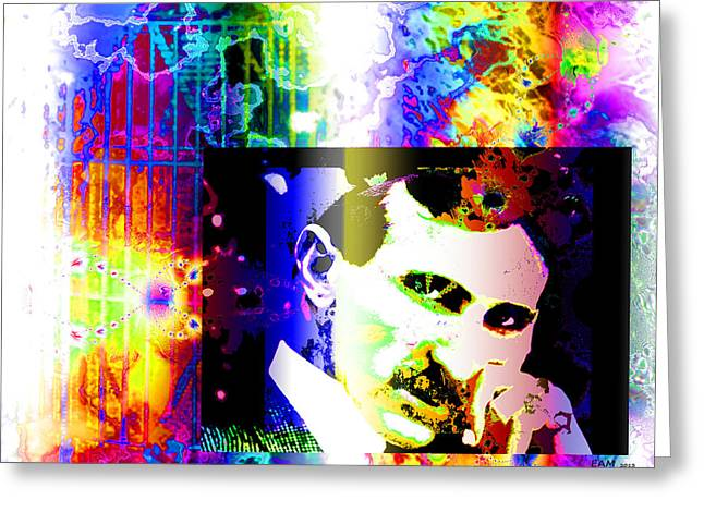 Historical Images Greeting Cards - Nikola Tesla  Greeting Card by Elizabeth McTaggart