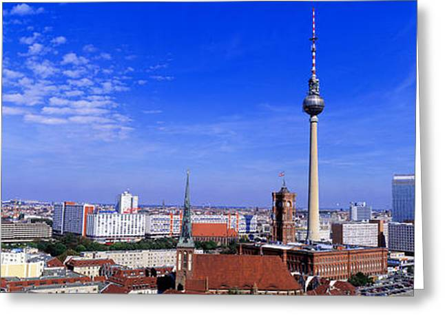 Faint Greeting Cards - Nikolai Quarter, Berlin, Germany Greeting Card by Panoramic Images