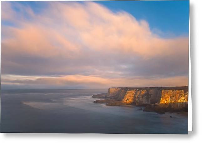 Seascape With Cloudy Sky Greeting Cards - Nimbus Almighty Greeting Card by Jonathan Nguyen