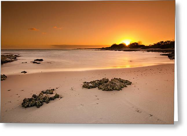 Top Seller Greeting Cards - Nimitz Beach Sunset - Island of Oahu Greeting Card by Tin Lung Chao