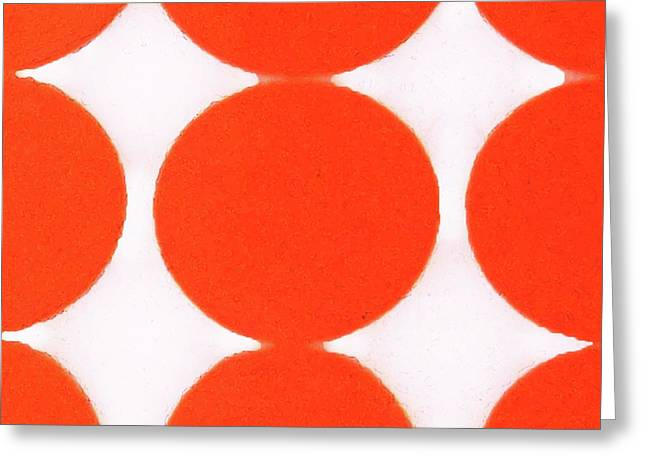 1960 Greeting Cards - Nine Dots Greeting Card by Charlette Miller