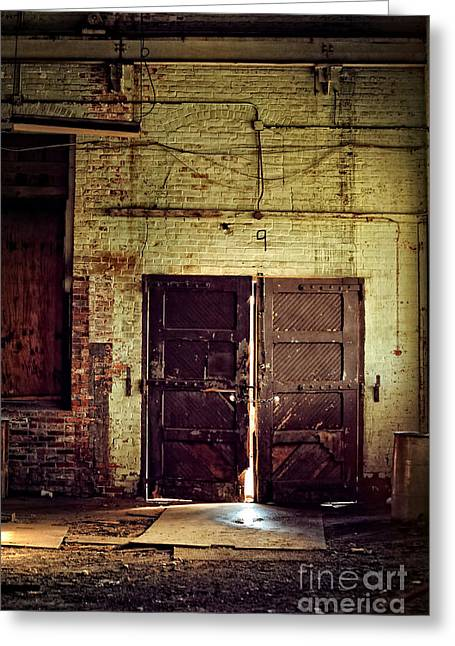 Old Doors Greeting Cards - Nine Greeting Card by HD Connelly