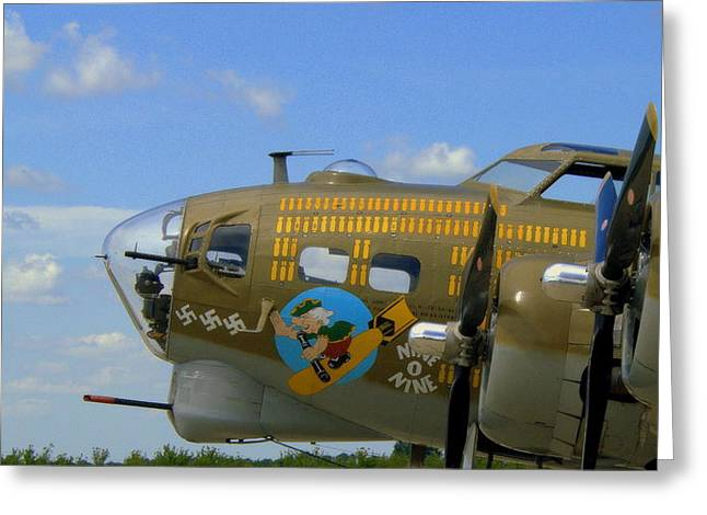 Plane Nose Greeting Cards - Nine O Nine Greeting Card by Claude Oesterreicher