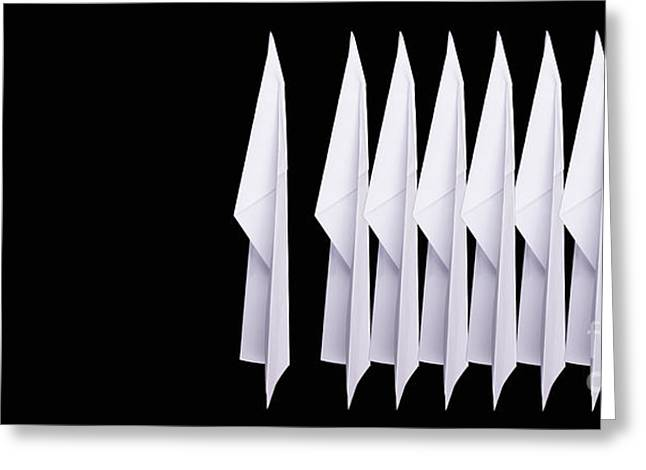 Nine Paper Airplanes Greeting Card by Edward Fielding