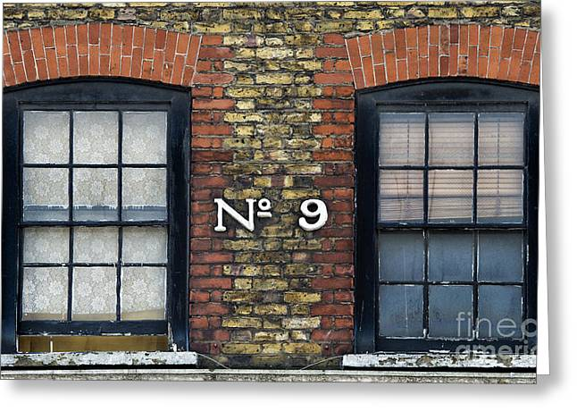 Numbers Greeting Cards - Nine  Greeting Card by Tim Gainey