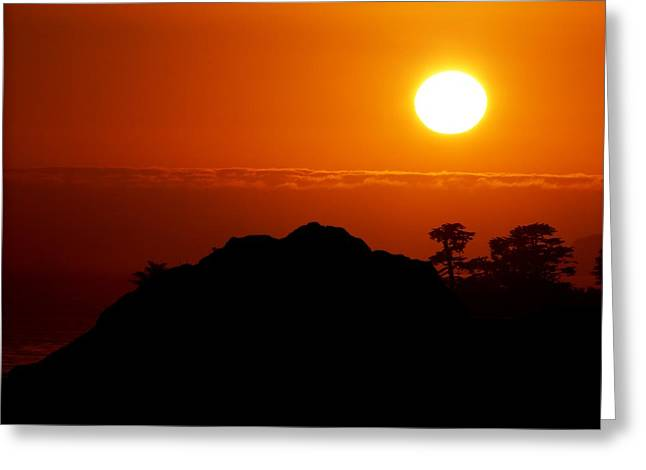 Santa Cruz Ca Greeting Cards - Nine-eleven Sunset Greeting Card by Ru Tover