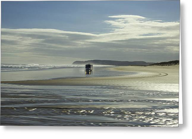 Ninety Mile Beach Greeting Cards - Ninety Mile Beach New Zealand Greeting Card by Venetia Featherstone-Witty