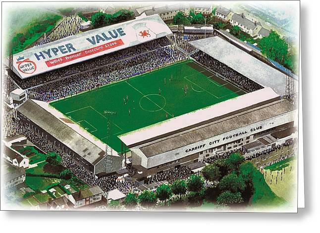 Wales Prints Greeting Cards - Ninian Park - Cardiff City Greeting Card by Kevin Fletcher