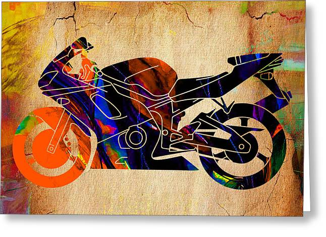 Yamaha Greeting Cards - Ninja Bike Greeting Card by Marvin Blaine