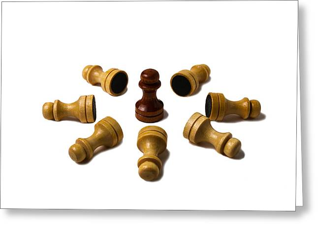 Chess Piece Greeting Cards - Ninja - Featured 3 Greeting Card by Alexander Senin