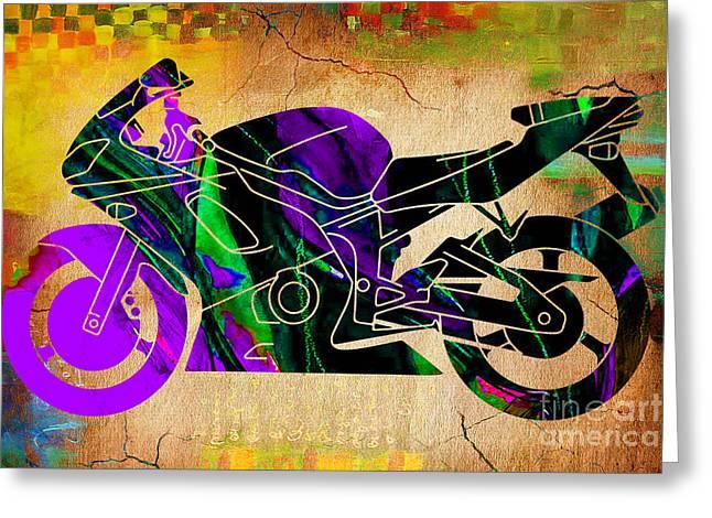 Yamaha Greeting Cards - Ninja Street Bike  Greeting Card by Marvin Blaine