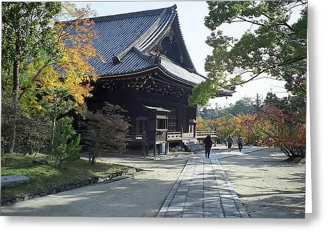 Kyoto Greeting Cards - Ninna-ji Temple Compound - Kyoto Japan Greeting Card by Daniel Hagerman