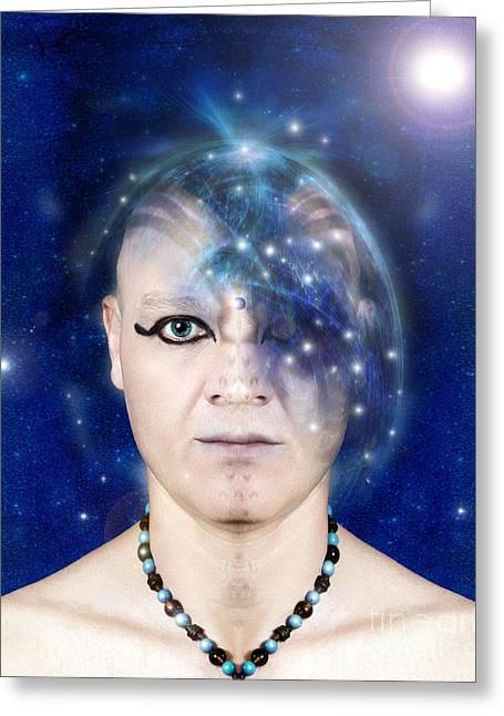 Liberation Greeting Cards - Fantasy- Nirvana - Ultimate Wisdom Greeting Card by Feryal Faye Berber