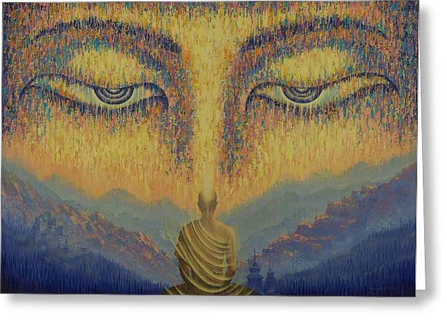 Recently Sold -  - Tibetan Buddhism Greeting Cards - Nirvana Greeting Card by Vrindavan Das