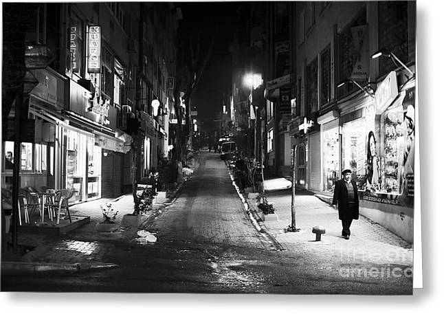Nisantasi Street Greeting Card by John Rizzuto