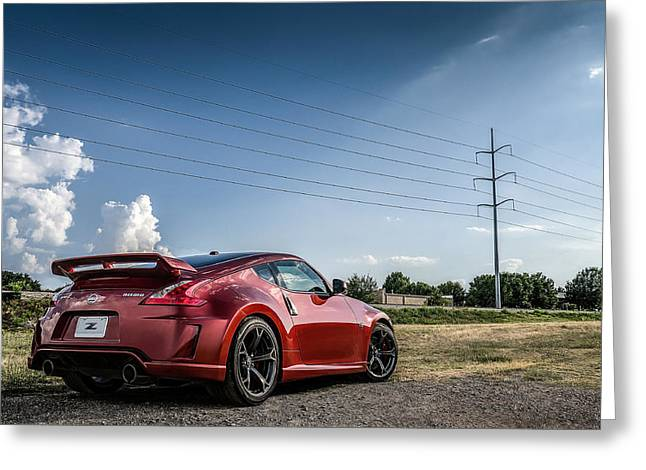 Copper Greeting Cards - Nismo Greeting Card by Douglas Pittman