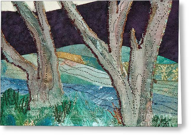 Roots Tapestries - Textiles Greeting Cards - Nisqually II Greeting Card by Susan Macomson