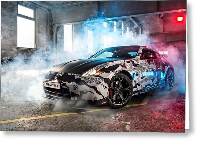Art Work Greeting Cards - Nissan 350z Greeting Card by Art Work