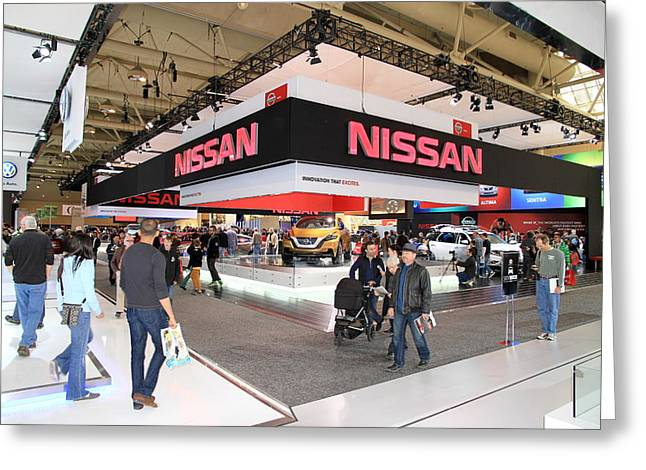 Convention Greeting Cards - Nissan Area Greeting Card by Valentino Visentini