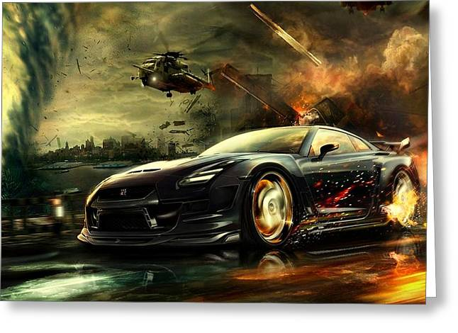 Movie Poster Prints Greeting Cards - Nissan G T R Greeting Card by Movie Poster Prints