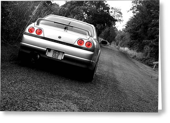 Sports Framed Photo Greeting Cards - Nissan Skyline Greeting Card by Eddie Armstrong