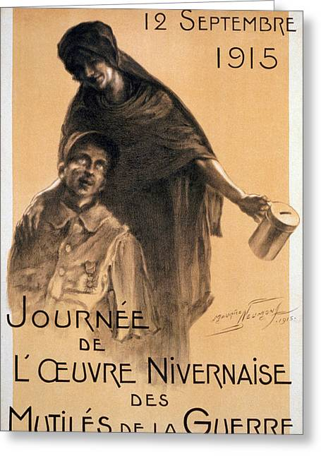 Nivernaise Day For The War Disabled Greeting Card by Maurice Louis Henri Neumont