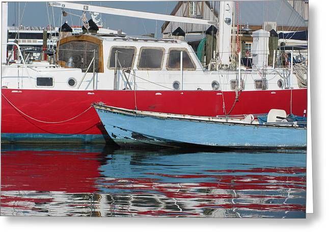 Docked Boat Greeting Cards - Nividic and Honky Conch Greeting Card by Christine  Fifer