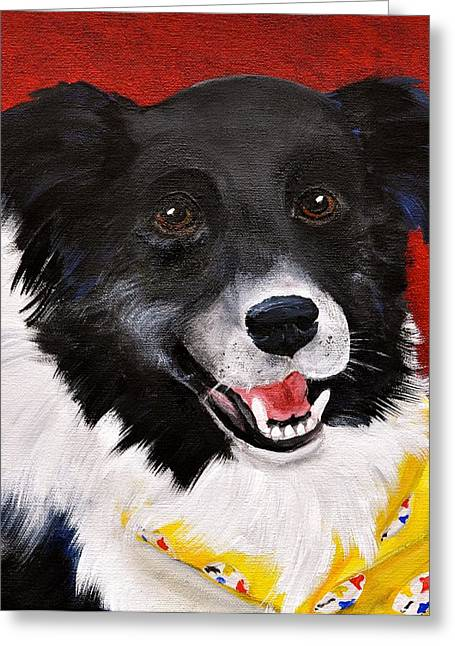 Bred Greeting Cards - Nixon Greeting Card by Debi Starr