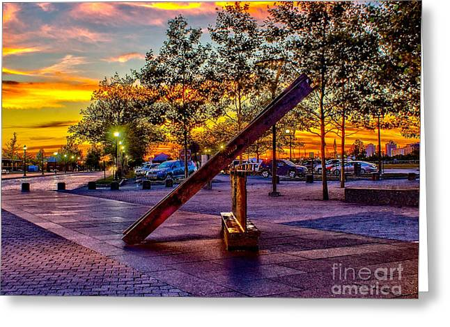 Nj 9/11 Memorial - Liberty State Park Greeting Card by Nick Zelinsky