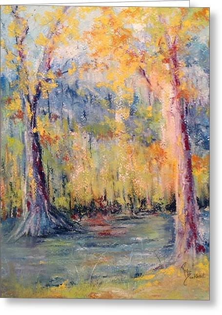 North Pastels Greeting Cards - NLR Lake Study  Greeting Card by Robin Miller-Bookhout