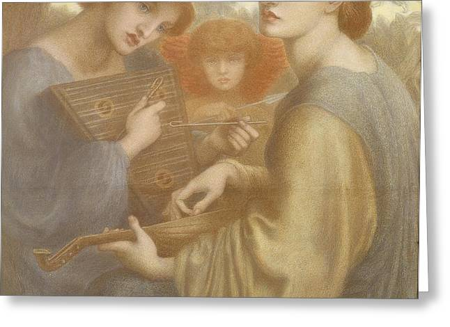 No. 1011 Study For The Bower Meadow Greeting Card by Dante Gabriel Charles Rossetti