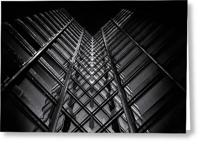 Glass Wall Greeting Cards - No 11 King St W Toronto Canada Greeting Card by Brian Carson