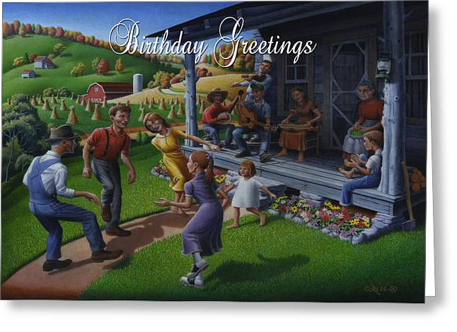 Tn Paintings Greeting Cards - No 23 Birthday Greetings Birthday Card Greeting Card by Walt Curlee