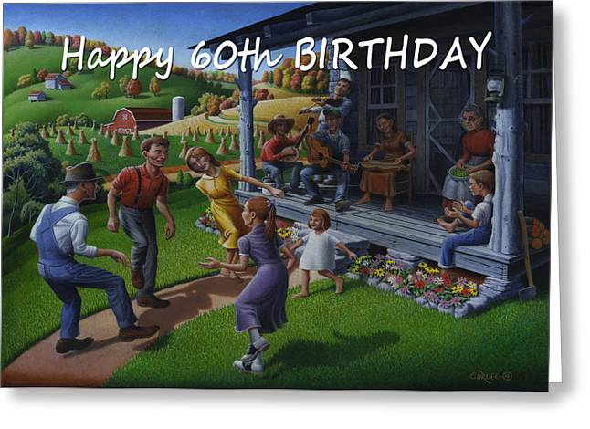 Tn Paintings Greeting Cards - No 23 Happy 60th Birthday Greeting Card Greeting Card by Walt Curlee