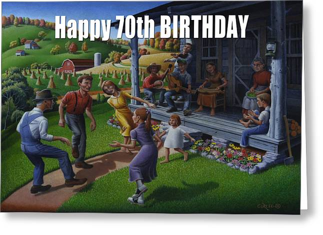 Tn Paintings Greeting Cards - No 23 Happy 70th Birthday Greeting Card Greeting Card by Walt Curlee