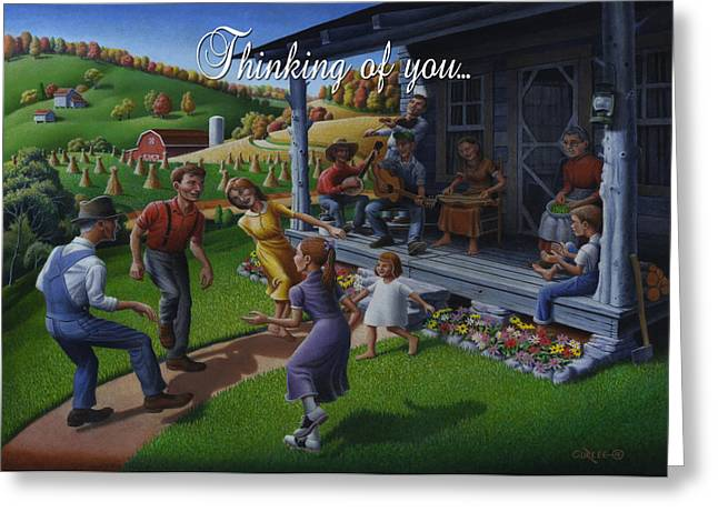 Tn Paintings Greeting Cards - No 23 Thinking Of You Friendship Greeting Card Greeting Card by Walt Curlee