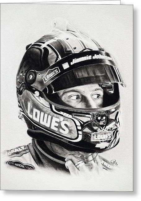 Jimmie Johnson Greeting Cards - No. 48 Greeting Card by Patrick Entenmann