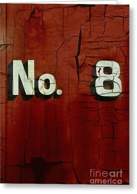 Numerical Greeting Cards - No. 8 Greeting Card by Margie Hurwich