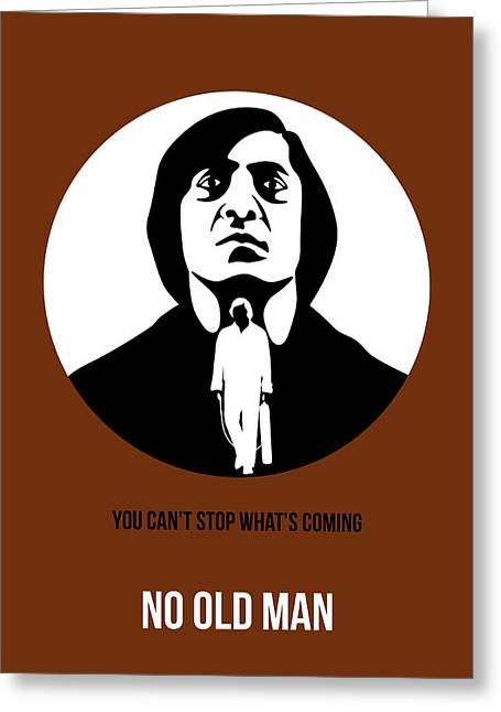 Old Digital Greeting Cards - No Country for Old Man Poster 4 Greeting Card by Naxart Studio