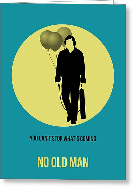Old Digital Greeting Cards - No Country for Old Man Poster 5 Greeting Card by Naxart Studio