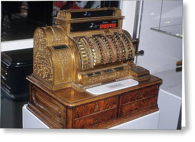 Old Cash Register Keys Greeting Cards - No Credit Cards Here Greeting Card by Carl Purcell