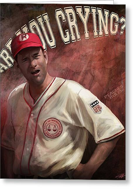 Cried Greeting Cards - No Crying In Baseball Greeting Card by Steve Goad