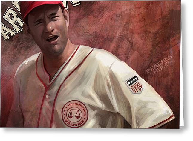 No Crying In Baseball Greeting Card by Steve Goad