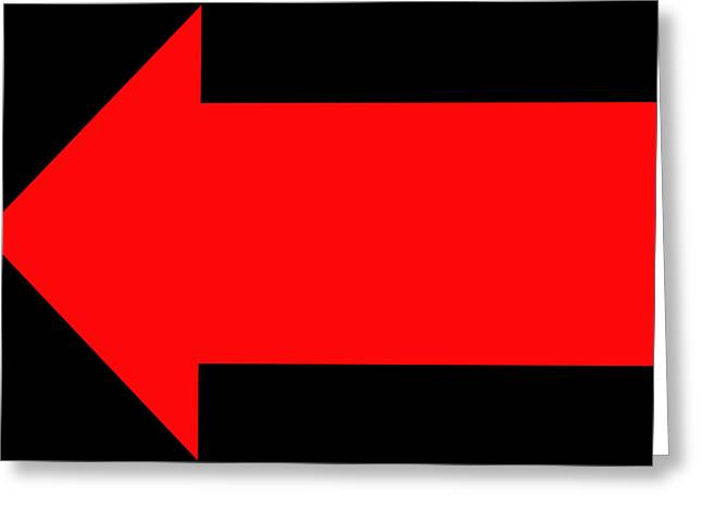 Arrow Abstract Greeting Cards - No Direction 4 Greeting Card by Mike McGlothlen