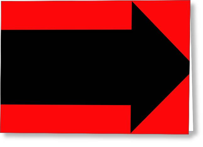 Arrow Abstract Greeting Cards - No Direction 5 Greeting Card by Mike McGlothlen