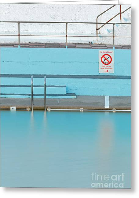 Step Ladder Greeting Cards - No Diving Greeting Card by Richard Thomas