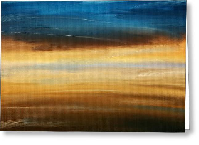Abstract Seascape Art Greeting Cards - No Ending Greeting Card by Lourry Legarde