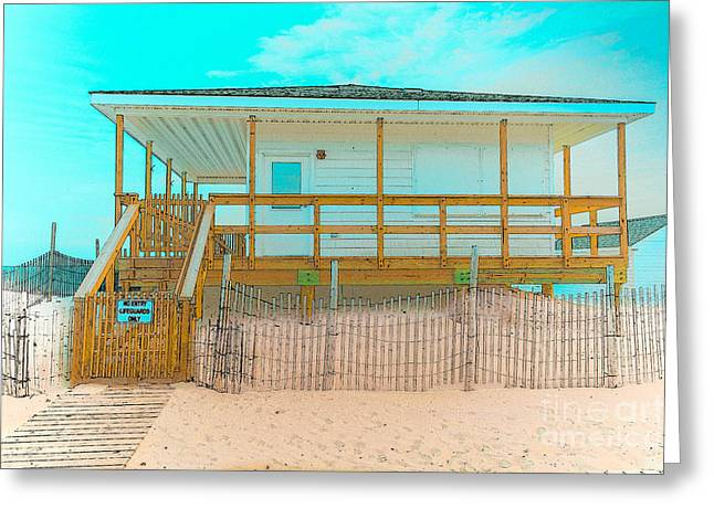No Entry Lifeguards Only Greeting Card by Gary Keesler