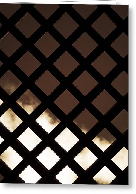 Prison Stripes Greeting Cards - No Escape Greeting Card by Wim Lanclus