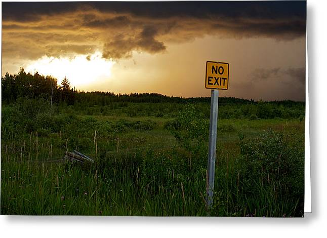 Forboding Greeting Cards - No Exit Greeting Card by Trever Miller